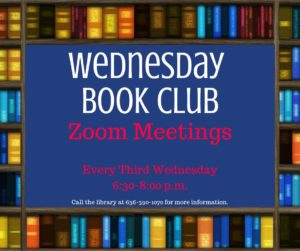 Wednesday Night Book Club Zoom Meeting